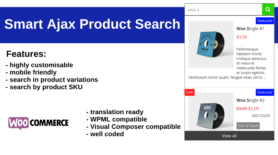 Smart Ajax Product Search